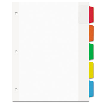 Avery® Movable Tab Dividers, 5-Tab Set