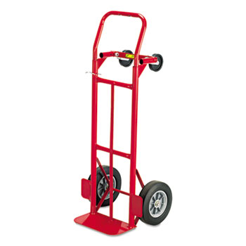 Safco® Mayline® Two-Way Convertible Hand Truck, 500-600lb Capacity, 18w x 51h, Red