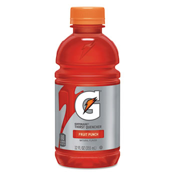 G-Series Perform 02 Thirst Quencher, Fruit Punch, 12 oz. Bottle, 24/CT
