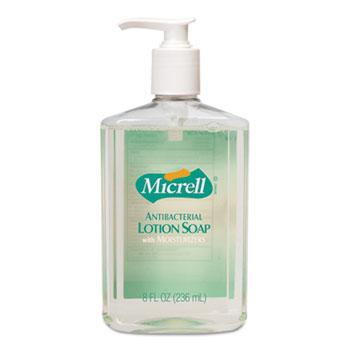 GOJO® Antibacterial Lotion Soap, Light Scent, 8oz Pump