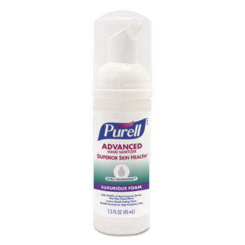 Advanced Hand Sanitizer Ultra Nourishing™ Luxurious Foam, 1.5 oz Bottle, Herbal, 24/CT