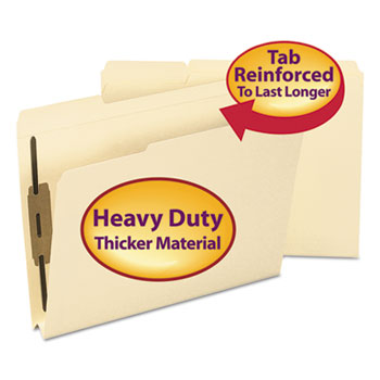 Smead 1 1/2 Inch Expansion Folder, Two Fasteners, 1/3 Top Tab, Letter, Manila, 50/Box