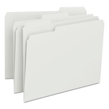 Smead® File Folders, 1/3 Cut Top Tab, Letter, White, 100/Box
