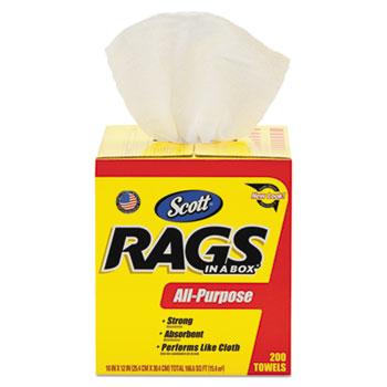 Rags in a Box®, 10 x 12, White, 200/Box