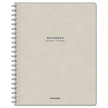 """AT-A-GLANCE® Notebook, Legal, 8 1/8"""" x 11"""", Tan/Navy Blue, 80 Sheets"""