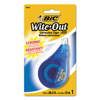 "BIC® Wite-Out EZ Correct Correction Tape, Non-Refillable, 1/6"" x 472"""