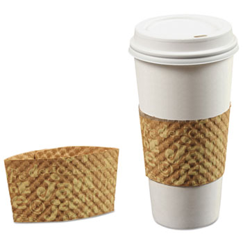 Java Jacket Coffee Sleeve for 12-24 oz Hot Cups, Brown, 200/Carton