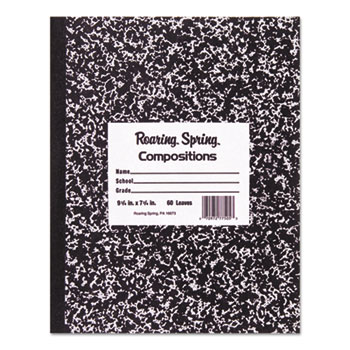 Roaring Spring® Marble Cover Composition Book, Wide Rule, 8 1/2 x 7, 48 Pages