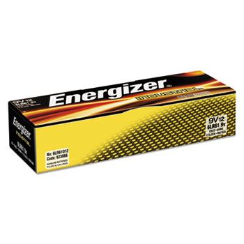 Industrial Alkaline Batteries, 9V, 12/BX
