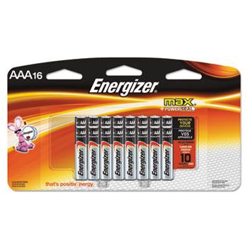 Energizer® MAX Alkaline Batteries, AAA, 16/PK