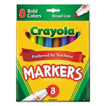 Crayola® Bold, Broad Line Markers, 8/ST
