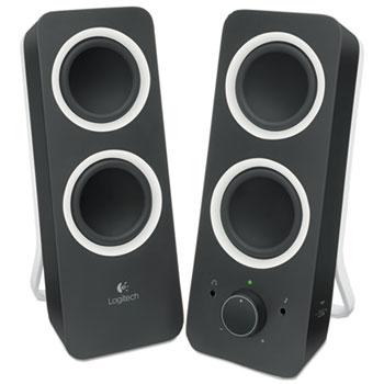 Logitech® Z200 Multimedia 2.0 Stereo Speakers, Black