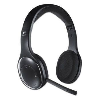 H800 Binaural Over The Head Wireless Bluetooth Headset 4 Ft Range Black Wb Mason