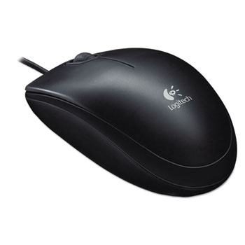 Logitech® B100 Optical USB Mouse, Black