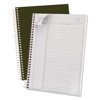 Gold Fibre Wirebound Writing Pad w/Cover, 9-1/2 x 7-1/4, White, Green Cover