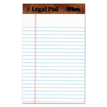 The Legal Pad Ruled Perforated Pads, 5 x 8, White, 50 Sheets, Dozen