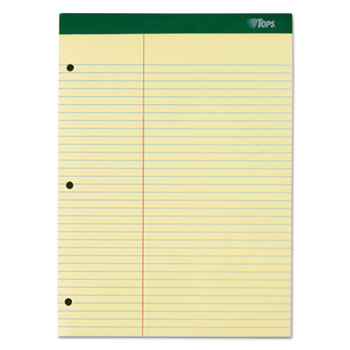 White 100 Sheets 8 1//2 x 11 3//4 3 Pads College//Medium Double Sheets Pad