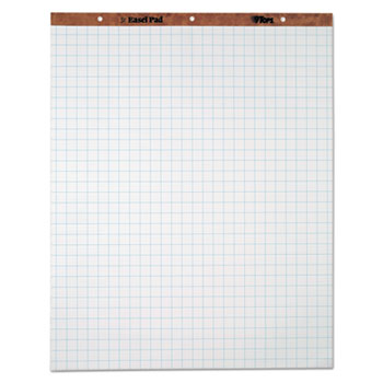 TOPS™ Easel Pads, Quadrille Rule, 27 x 34, White, 50 Sheets, 4 Pads/Carton