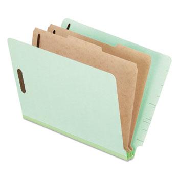 Pendaflex® Pressboard End Tab Classification Folders, Letter, 2 Dividers/6 Section, 10/Box