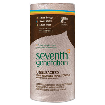 """100% Recycled Paper Towel Rolls, 9"""" x 11"""", Brown"""