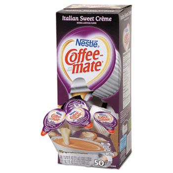 Italian Sweet Crème Liquid Coffee Creamer, 0.38 oz. Single-Serve Cups, 50/BX