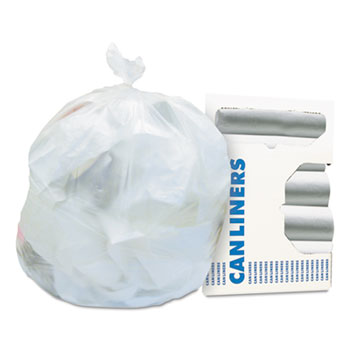 Regular Grade Waste Can Liner Rolls, 6 Microns, 12-16 Gallon, 1,000 per Carton