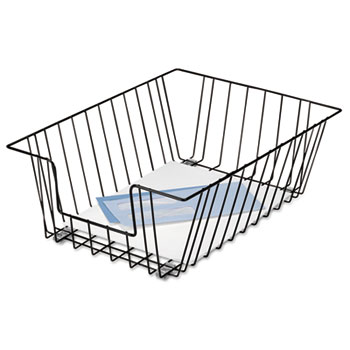 Fellowes® Wire Desk Tray Organizer, One Tier, Wire, Black