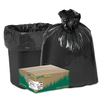 Recycled Can Liners, 16gal, .85 Mil, 24 x 33, Black, 500/Carton