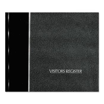 National® Visitor Register Book, Black Hardcover, 128 Pages, 8 1/2 x 9 7/8