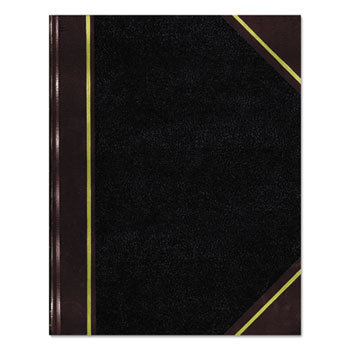 National® Texthide Record Book, Black/Burgundy, 300 Green Pages, 10 3/8 x 8 3/8