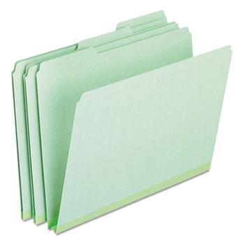 Pendaflex® Pressboard Expanding File Folders, 1/3 Cut Top Tab, Letter, Green, 25/Box