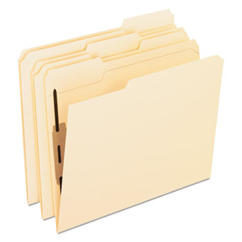 Pendaflex® Folders with Two Bonded Fasteners, 1/3 Cut Top Tab, Letter, Manila, 50/Box