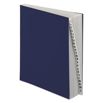 Pendaflex® Expanding Desk File, A-Z, Letter Size, Acrylic-Coated Pressboard, Black/Blue