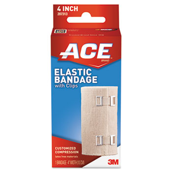 "Elastic Bandage with E-Z Clips, 4"""