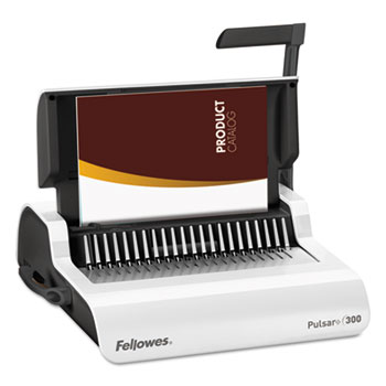 Fellowes® Pulsar Comb Binding System, 300 Sheets, 18 1/8 x 15 3/8 x 5 1/8, White