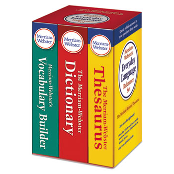 Merriam Webster® Everyday Language Reference Set, Dictionary, Thesaurus, Vocabulary Builder