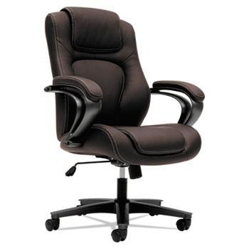 HON® VL402 Series Executive High-Back Chair, Brown Vinyl