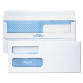 Redi-Seal Envelope, #10, Double Window, Contemporary, White, 500/Box