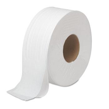"JRT Bath Tissue, Jumbo, Septic Safe, 2-Ply, White, 3.5"" x 1000 ft, 12 Rolls/Carton"
