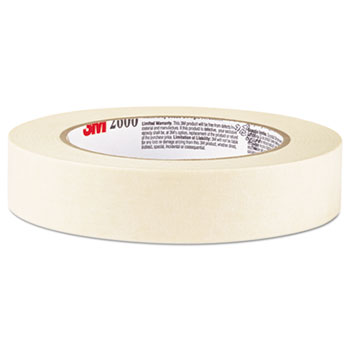 "Economy Masking Tape, 3/4"" x 60yds, 3"" Core, Cream"