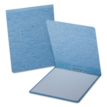 "Oxford™ PressGuard Report Cover, Prong Clip, Letter, 2"" Capacity, Light Blue"