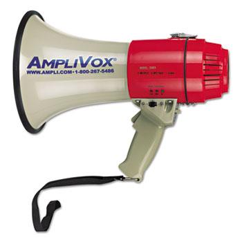 AmpliVox® MityMeg Piezo Dynamic Megaphone, 15W, 5/8 Mile Range