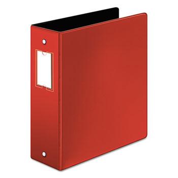 "Cardinal® Premier Easy Open Locking Round Ring Binder, 3"" Cap, 11 x 8 1/2, Red"