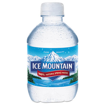 Ice Mountain® Natural Spring Water, 8 oz Bottle, 48/Carton