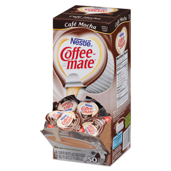 Coffee-mate® Café Mocha Liquid Coffee Creamer, 0.38 oz. Single-Serve Cups, 50/BX