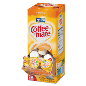 Hazelnut Liquid Coffee Creamer, 0.38 oz. Single-Serve Cups, 50/BX
