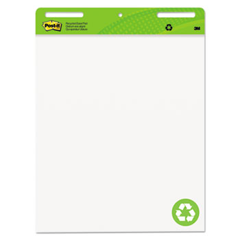 Post-it® Easel Pads Super Sticky, Self Stick Easel Pads, 25 x 30, White, Recycled, 2 30 Sheet Pads/Carton