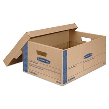 Bankers Box® SmoothMove Prime Moving Boxes w/Lift Off Lid, 24l x 15w x 10h, Kraft, 8/Carton