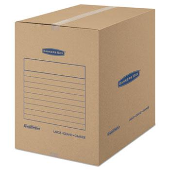 Bankers Box® SmoothMove Basic Moving boxes, 18l x 18w x 24h, Kraft, 15/Carton