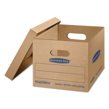 SmoothMove Classic Moving Boxes, 15l x 12w x 10h, Kraft, 15/Carton